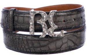 billionaire italian Couture Alligator belt