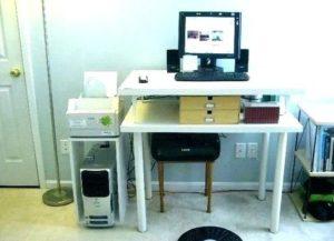 dual monitor computer desk