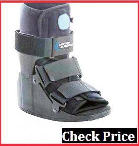 broken foot walking boot sleeping