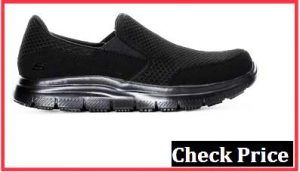 skechers black flex advantage mcallen slip on trainers