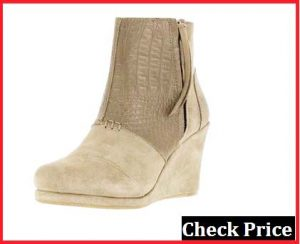 toms desert wedge bootie taupe reviews