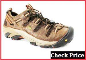 keen utility mens flint low steel toe work shoe