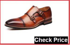 la milano men's double monk strap slip on loafer